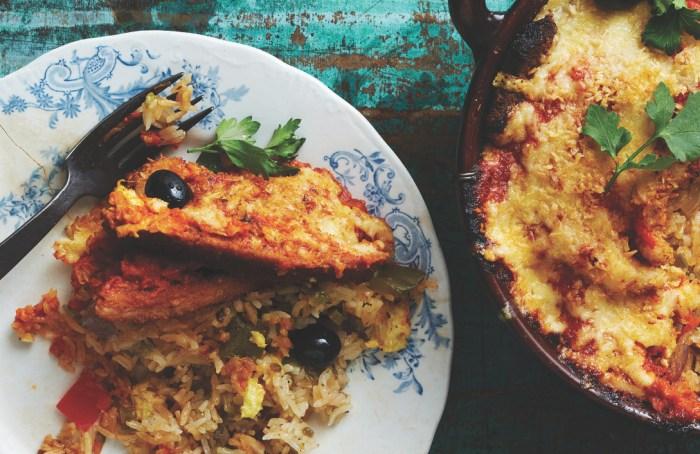 Macanese baked pork chop rice