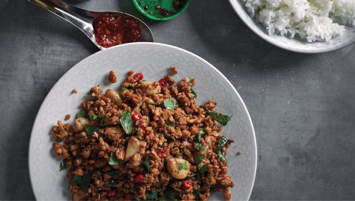 Burmese chicken with mint
