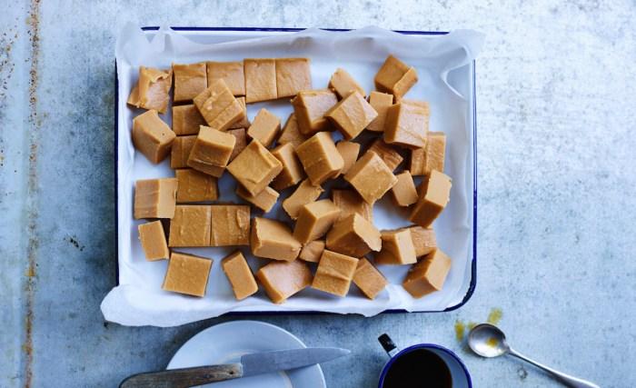 Smoked butter fudge