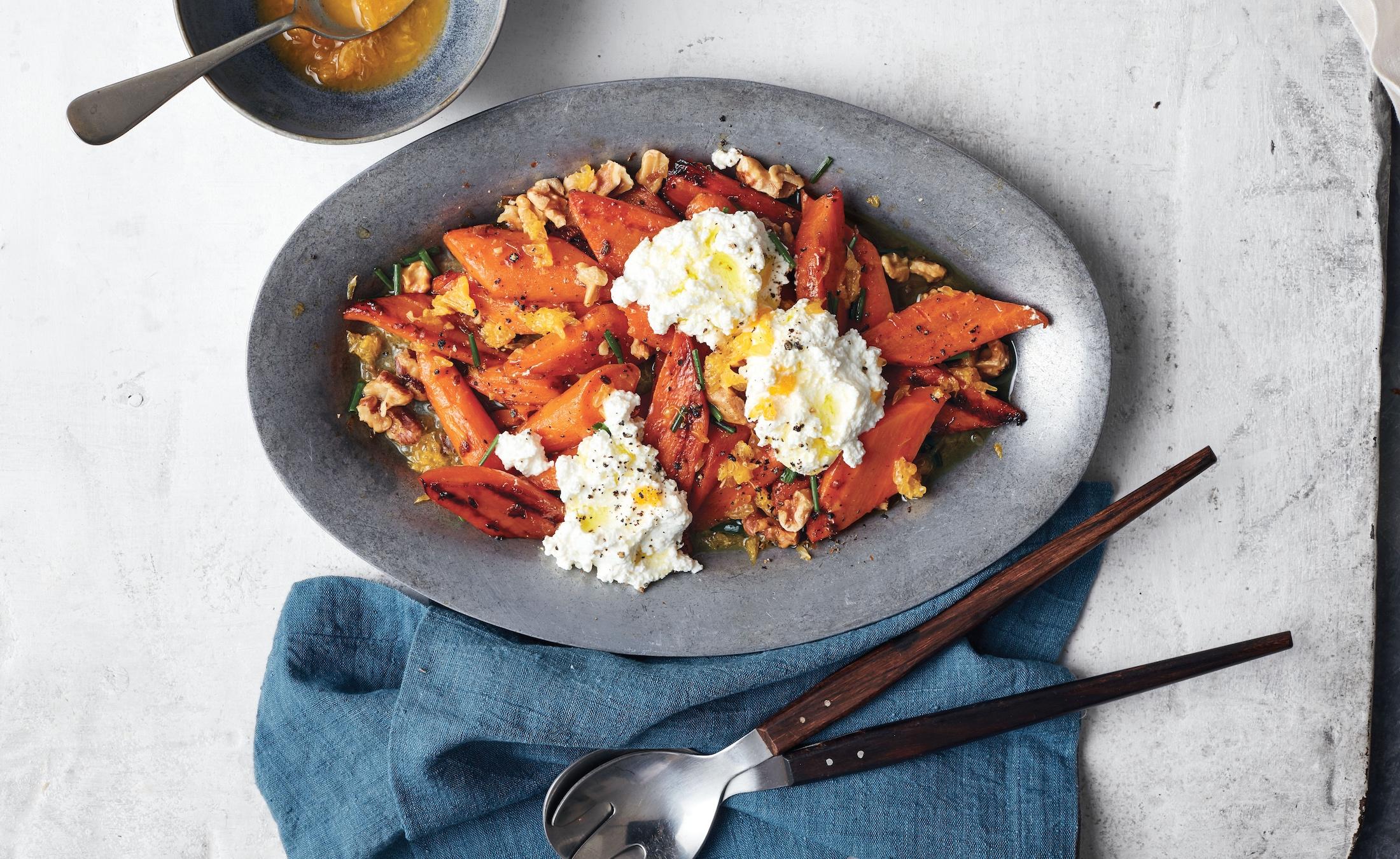 Very Veg: Instant Pot Tangerine Carrots With Ricotta