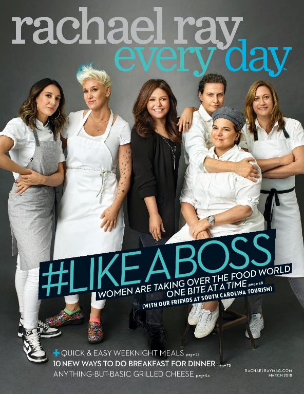 rachel ray every day s march cover celebrates female chefs