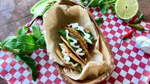chicken skin taco shells
