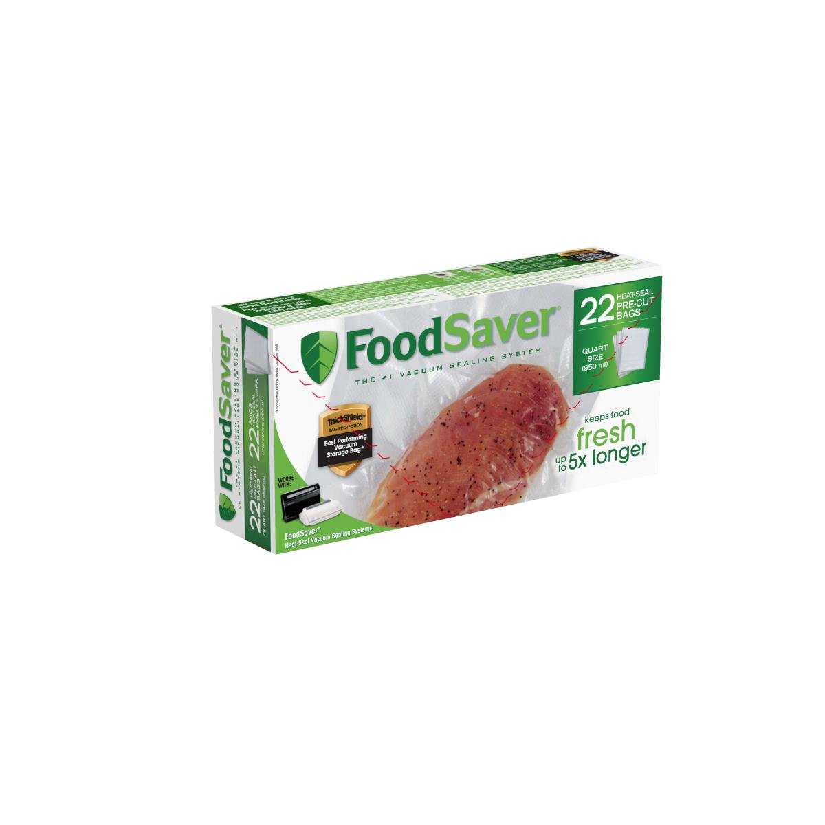 foodsaver quart size heat seal vacuum sealer bags 22 count