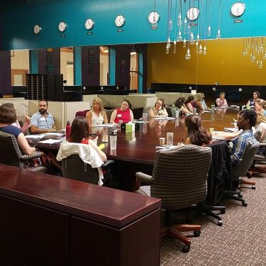 Discussion at CFSA gathering