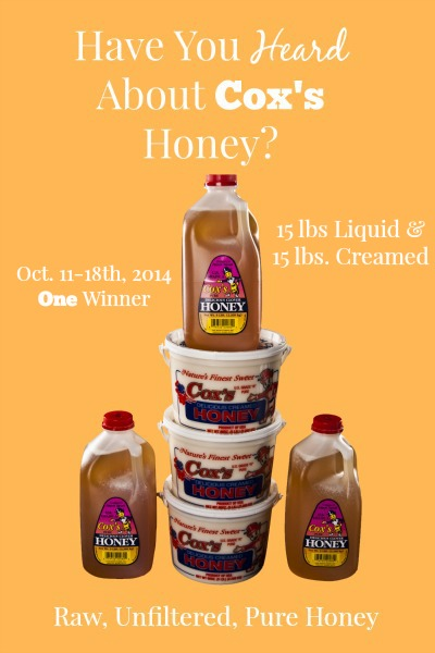 Coxs Honey-Shelley Idaho-Giveaway-raw, unfiltered, pure honey | via.www.foodstoragemoms.com