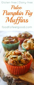 Paleo Pumpkin Fig Muffins | These are only slightly sweet with the perfect amount of spice, tons of protein and super healthy!