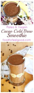 Cocoa Cold Brew Smoothie, Vegan, Paleo, No Sugar Added, 4-Ingredients