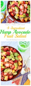 4-Ingredients | Paleo | Vegan | Whole30 | This Hempseed Avocado Fruit Salad is the perfect summer recipe for any meal of the day