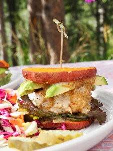 Paleo Sweet Potato Chicken Sliders with Horseradish Honey Mustard