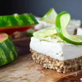 Paleo Vanilla Lime Cheesecake Bars