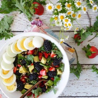 Baby Kale Berry Breakfast Salad