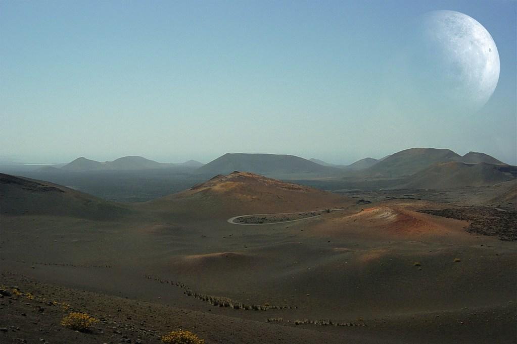 landscape, lanzarote, volcanoes
