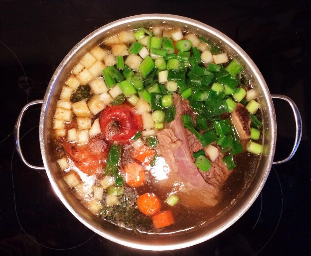 Möhreneintopf mit Rindfleisch