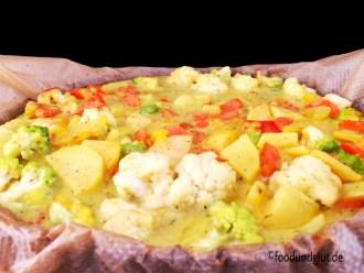 Parmesan-Gemüse-Auflauf mit der Cooking Chef von Kenwood