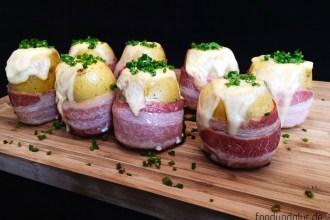 Raclette-Kartoffeln mit Bacon