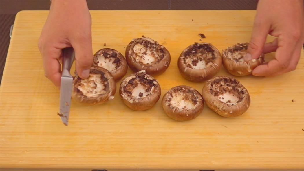Gefüllte Champignons mit Ziegenkäse