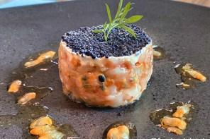 Garnelen-Tatar mit Passionsfrucht und Kaviar
