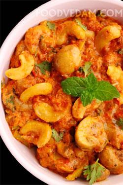 Mushroom-cashewnut-curry