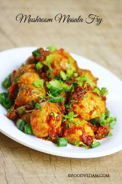 Mushroom masala Fry -how to prepare quick mushroom fry