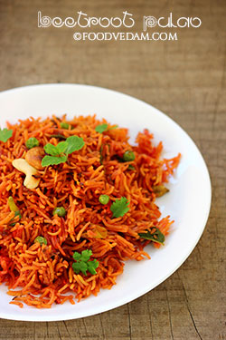 Beetroot Pulao – how to make beetroot rice-