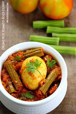 Drumstick tomato curry-mulakkada tomato curry