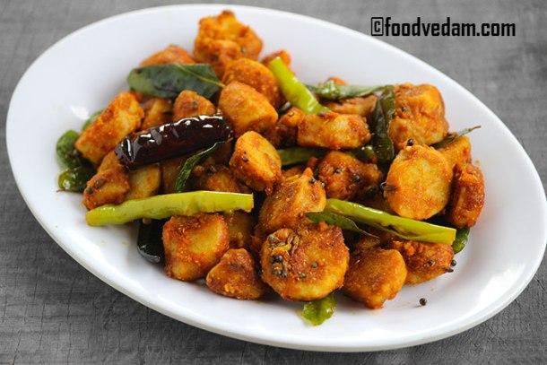 arbi fry recipe