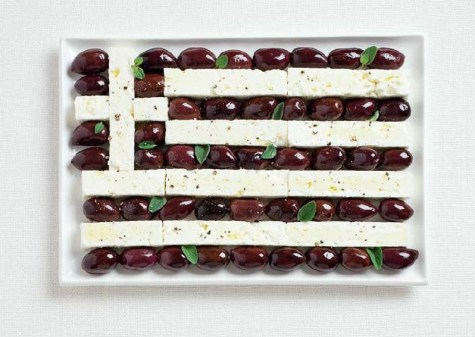 greece olives and feta