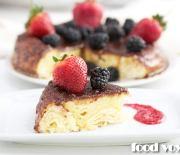 Мягкий слоенный пирог с сыром Рикотта
