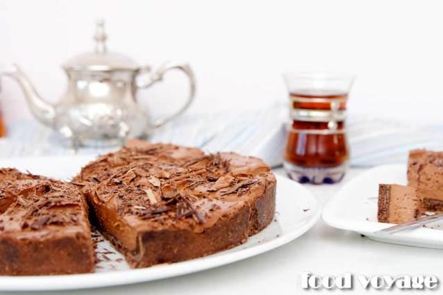 Шоколадно-творожный пирог без выпечки