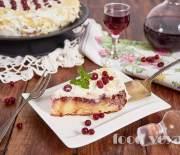 Клюквенный пирог перевертыш
