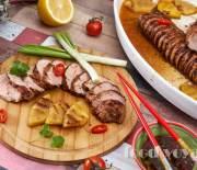 Свинина  Гриль с ананасом и имбирным соусом