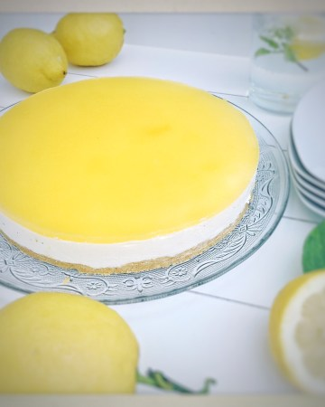 cheese cake, no bake, Lemon, Zitronen, Tarte