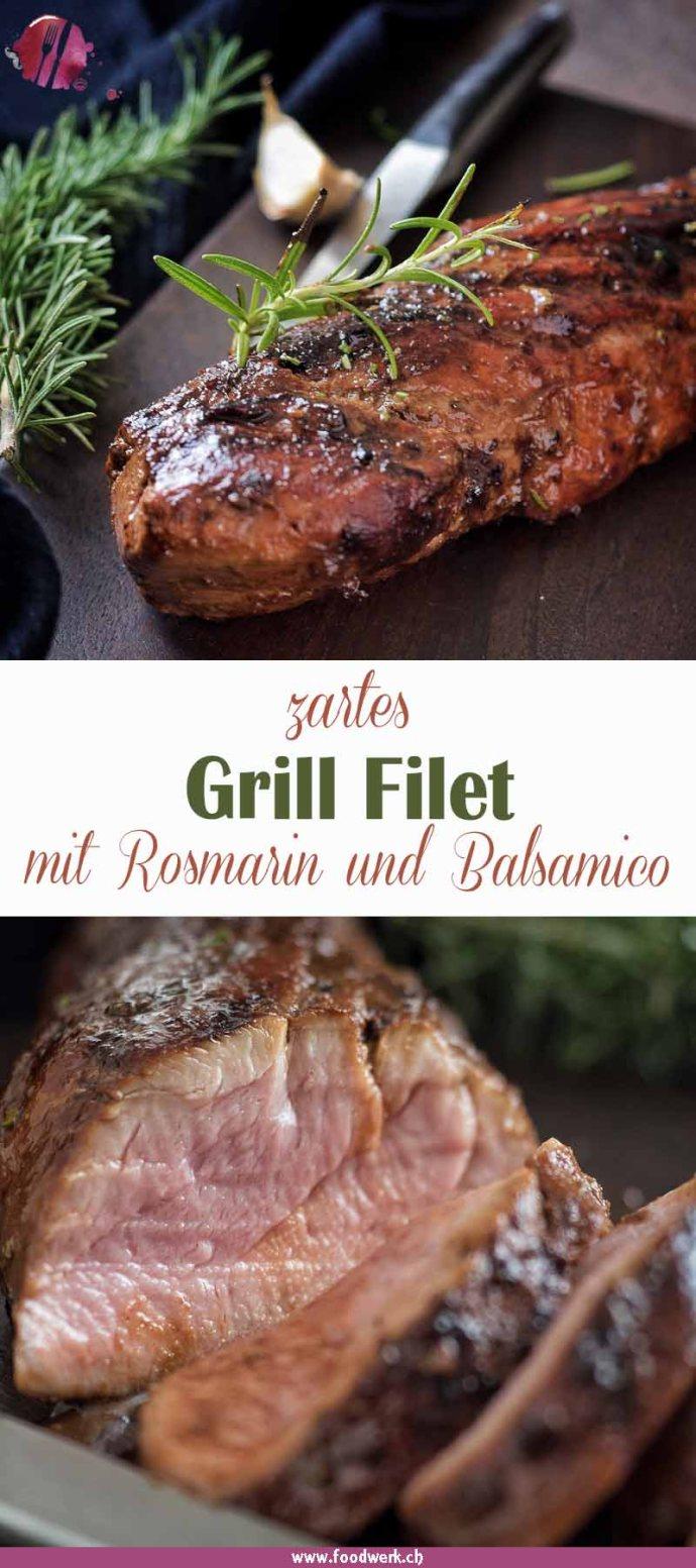 Das Grill Filet von foodwerk.ch, mit Balsamico Rosmarin Marinade.