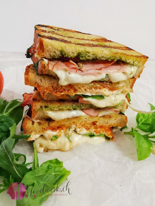 Grill Sandwich anschnitt