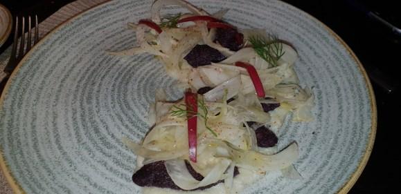 alici fritte con insalata di finocchio