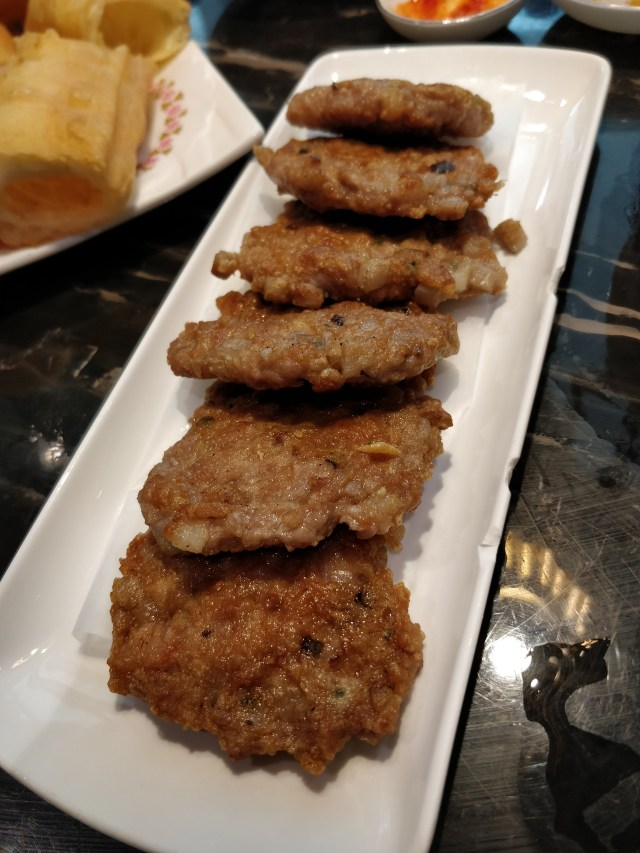 Pan fried lotus root patties