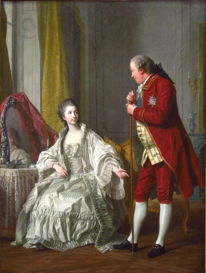 Le Marquis de Marigny et sa femme - Louis Michel Van Loo, 1769