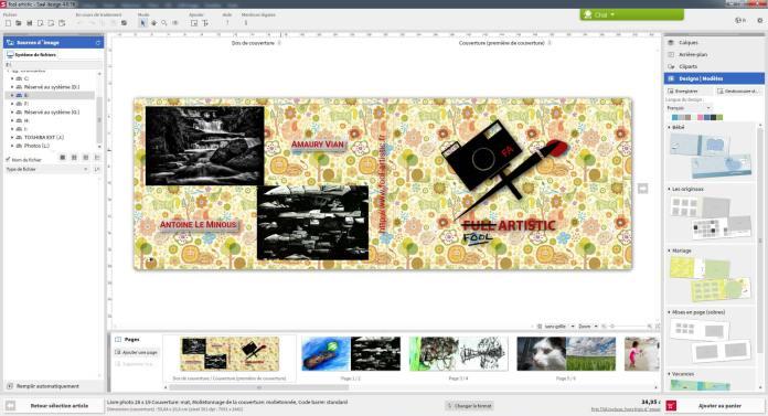 Capture d'écran du logiciel de Saal Digital