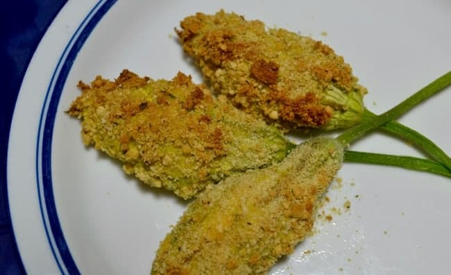 Baked Stuffed Zucchini Blossoms Fool A Carnivore