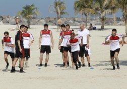 milan dubai allenamenti spiaggia