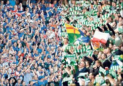 old firm celtic rangers supporters fans