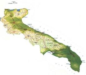 regione puglia cartina