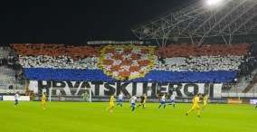 Split, 17.11.2012 - Nogometna utakmica 1. MAXtv lige izmedju Hajduka i Lokomotive