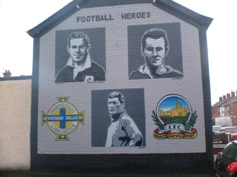 linfield belfast murale