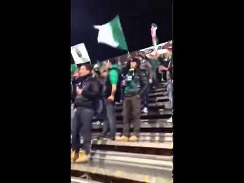 Uno coro da stadio argentino degli ultras a sostegno dell'Avellino