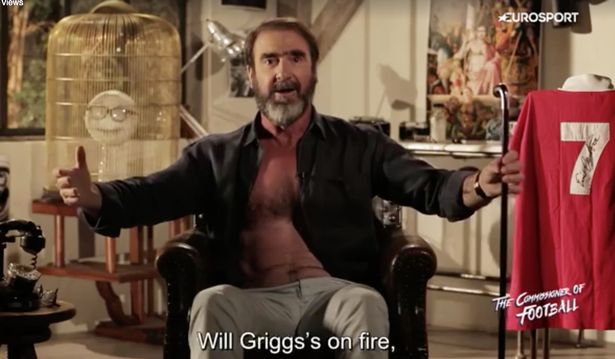 cantona will griggs on fire