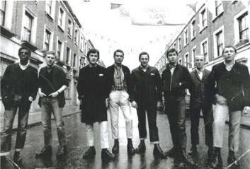 Chelsea: skinheads in 1970 Fulham street FA Cup final