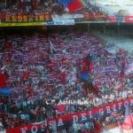 Genoa: Striscione Redskins in Gradinata Nord vs Piacenza 1988/89