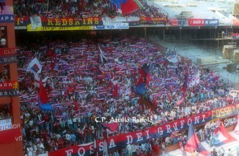 Genoa: Striscione Redskins in Gradinata Nord vs Piacenza 1988/89