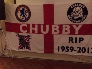 Chelsea: Bandiera per Chris 'Chubby' Henderson: fondatore dela oi! band Combat84 e membro degli HeadHunters